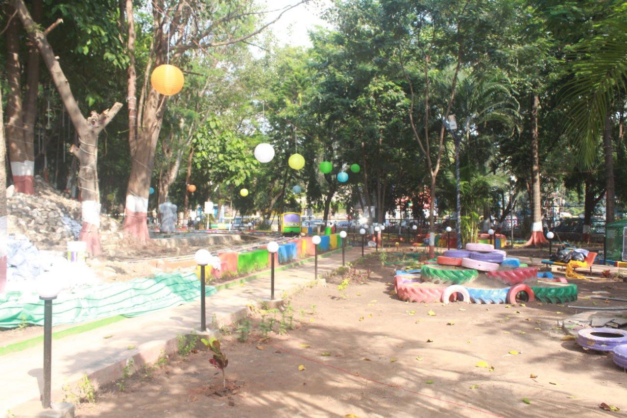 Dr. Zakir Hussain Park renovated in 75 hours